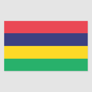マリシャスの旗 長方形シール
