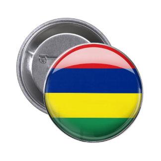 マリシャスの旗 5.7CM 丸型バッジ