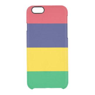 マリシャスの澄んなiPhoneの場合の旗 クリアiPhone 6/6Sケース
