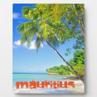 マリシャスの熱帯島 フォトプラーク