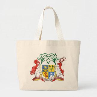 マリシャスの紋章付き外衣 ラージトートバッグ