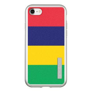 マリシャスの銀製のiPhoneの場合の旗 Incipio DualPro Shine iPhone 8/7ケース