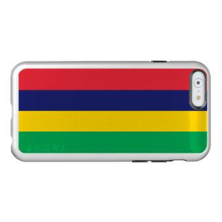 マリシャスの銀製のiPhoneの場合の旗 Incipio Feather Shine iPhone 6ケース