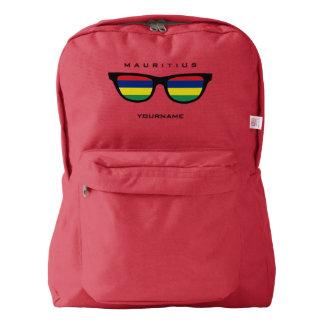 マリシャスはカスタムなバックパックを影で覆います AMERICAN APPAREL™バックパック