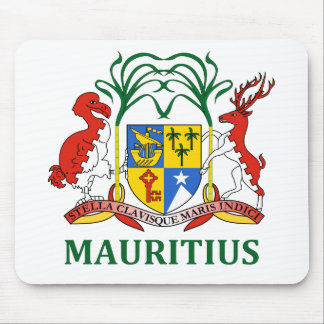 マリシャス-または記号紋章か旗または紋章付き外衣 マウスパッド