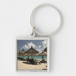 マリシャス、Poste de Flacq。 のビーチ場面 キーホルダー