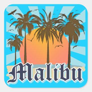 マリブのビーチカリフォルニアカリフォルニア スクエアシール