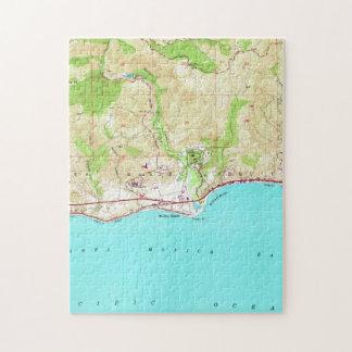 マリブカリフォルニア(1950年)のヴィンテージの地図 ジグソーパズル