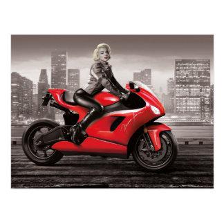 マリリンのオートバイ ポストカード