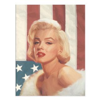 マリリンの旗 はがき