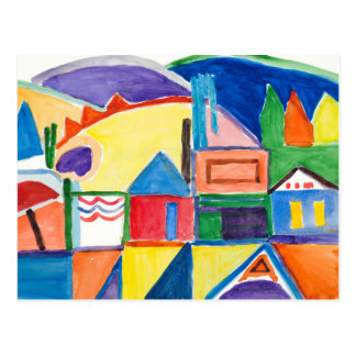"""マリリンHolmesのファインアートの郵便はがき""""メイン・ストリート"""" はがき"""