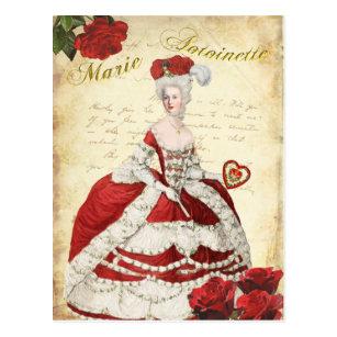 マリーアントワネットのポストカード、ヴァレンタイン・レッドー絵葉書 ポストカード
