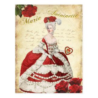 マリーアントワネットのポストカード、ヴァレンタイン・レッドー絵葉書 葉書き