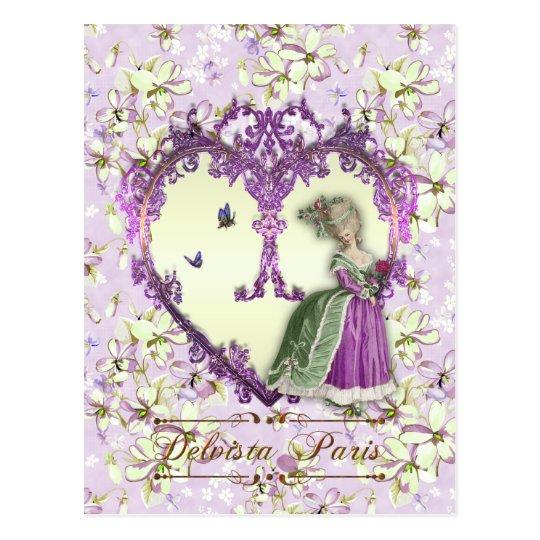 マリーアントワネットのポストカード、LilacDream絵葉書・紫 ポストカード