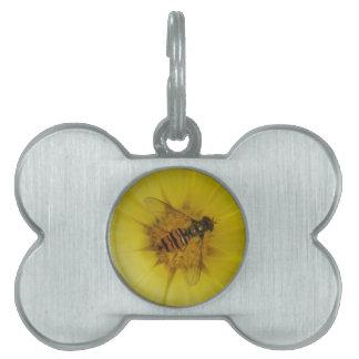 マリーゴールドのペットタグのHoverfly ペットネームタグ