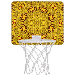 マリーゴールドのヴィンテージの万華鏡のように千変万化するパターンの    バスケットボールバスケ ミニバスケットボールゴール
