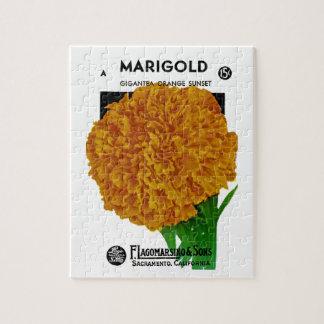 マリーゴールドのヴィンテージの種の包み ジグソーパズル