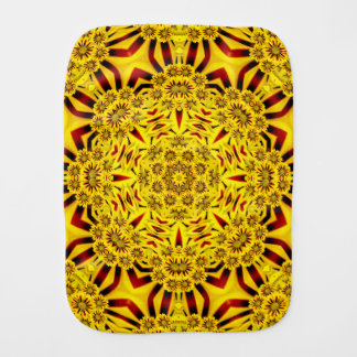 マリーゴールドの万華鏡のように千変万化するパターンのバープクロス バーブクロス