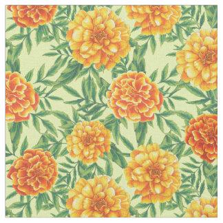 マリーゴールドの花模様 ファブリック