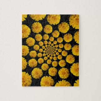 マリーゴールドの花 ジグソーパズル