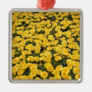 マリーゴールドの花 メタルオーナメント