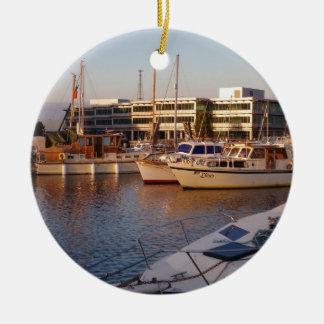 マリーナのボート セラミックオーナメント