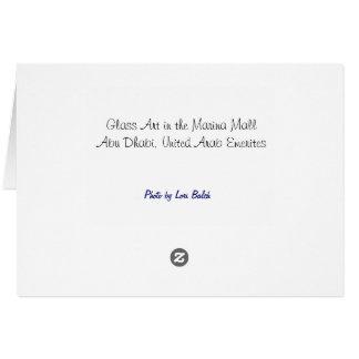 マリーナのモールアラブ首長国連邦のガラス芸術 カード