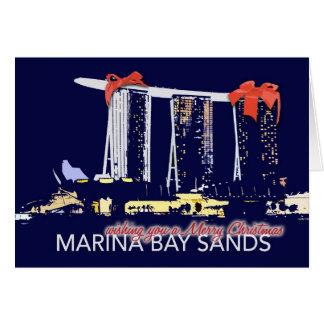 マリーナ湾はクリスマスカードを紙やすりで磨きます カード