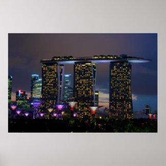 マリーナ湾はシンガポールを紙やすりで磨きます プリント