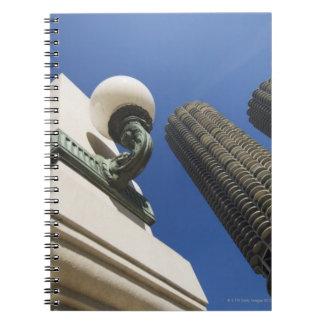 マリーナ都市タワーシカゴの街灯の詳細 ノートブック
