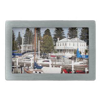 マリーナ、港の妖精、ビクトリア、オーストラリアのヨット 長方形ベルトバックル