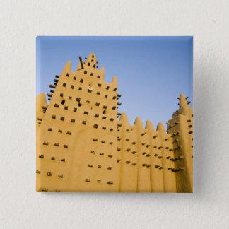 マリ、Djenne。 壮大なモスク 5.1cm 正方形バッジ
