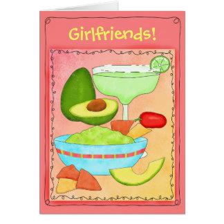 マルガリータのグアカモーレのガールフレンドの友情 カード