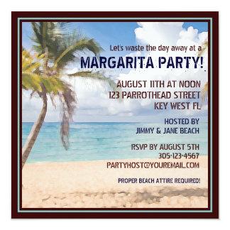 マルガリータのパーティの招待状で日遠くにな無駄になること カード