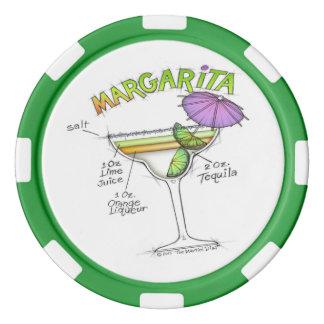 マルガリータのレシピのカクテルの芸術 ポーカーチップ
