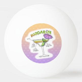 マルガリータのレシピのカクテルの芸術 卓球ボール