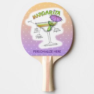 マルガリータのレシピのカクテルの芸術 卓球ラケット