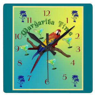 マルガリータの時間 スクエア壁時計