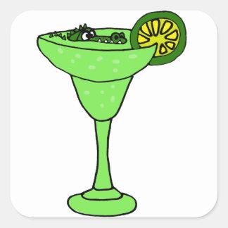 マルガリータガラスのおもしろいなわに水泳 スクエアシール