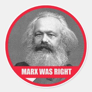 マルクスは正しかったです ラウンドシール