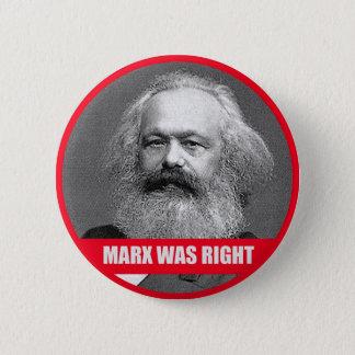 マルクスは正しかったです 5.7CM 丸型バッジ