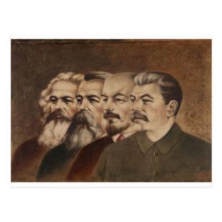 マルクス、エンゲルス、レーニンおよびスターリン はがき