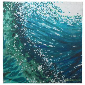 マルグレットJuul著4つのナプキンの沿岸波セット ナプキンクロス
