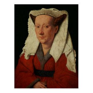 マルグレットvan Eyck 1439年のポートレート ポストカード