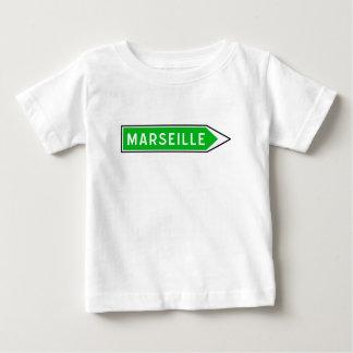 マルセーユの交通標識、フランス ベビーTシャツ