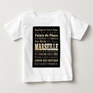 マルセーユ、フランスの魅力そして有名な場所 ベビーTシャツ