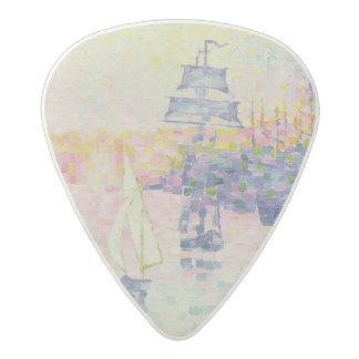 マルセーユ、c.1909 (キャンバスの油)の港 アセタール ギターピック