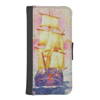 マルセーユ、c.1909 (キャンバスの油)の港 iPhoneSE/5/5sウォレットケース