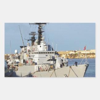 マルタのフリゲート艦 長方形シール