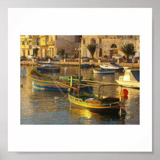 マルタのボート ポスター